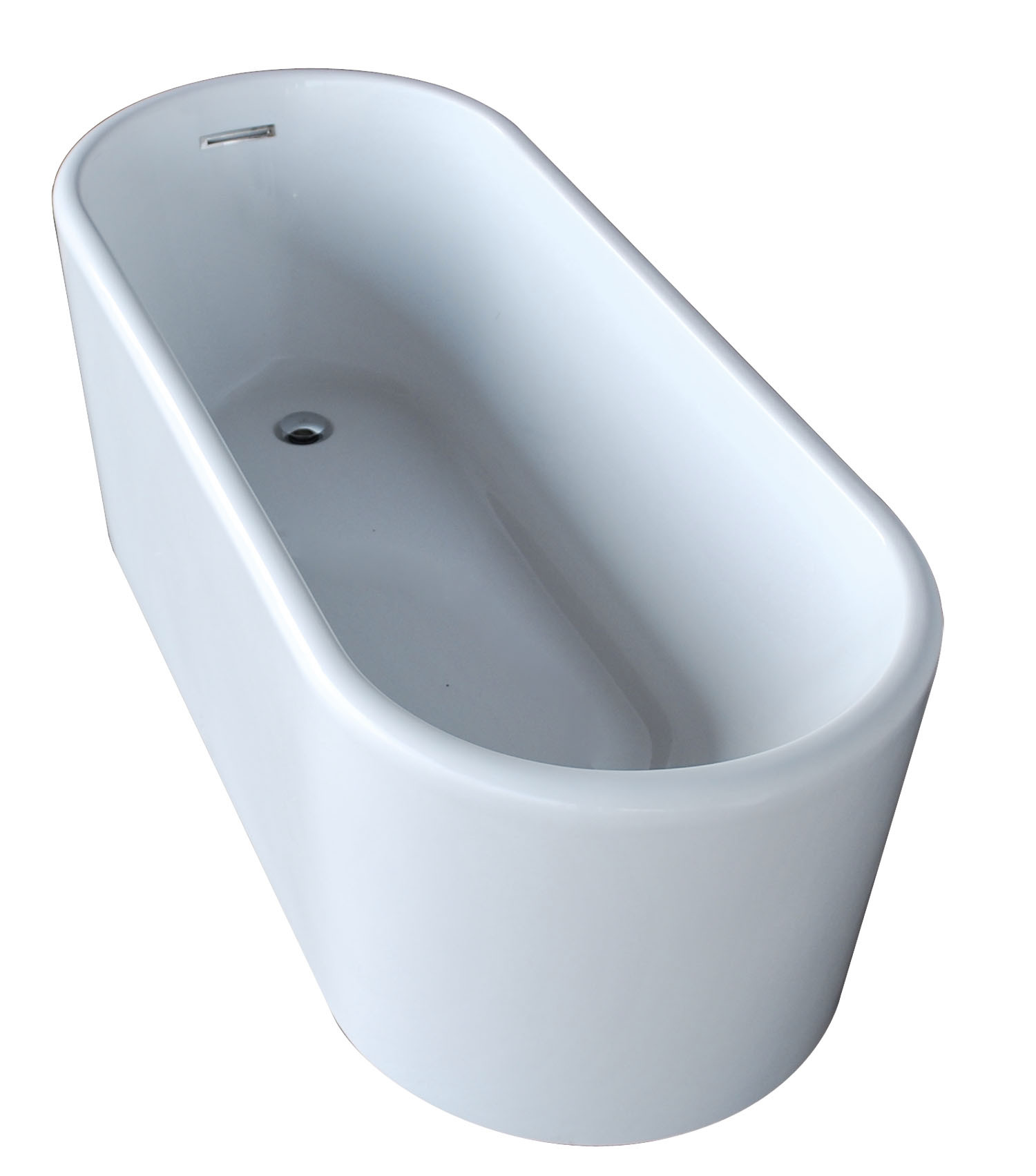 Anzzi FT-AZ008 Century Reversible Drain Freestanding Bathtub Glossy White
