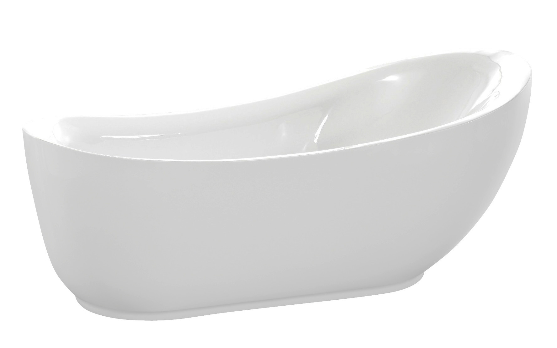 Anzzi FT-AZ090 Talyah Series 5.92 ft. Freestanding Bathtub in White