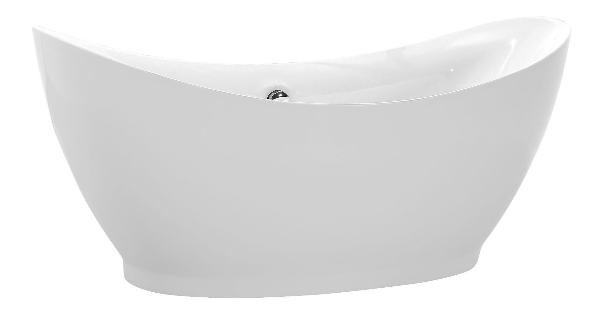 Anzzi FT-AZ091 Reginald Series 5.67 ft. Freestanding Bathtub in White