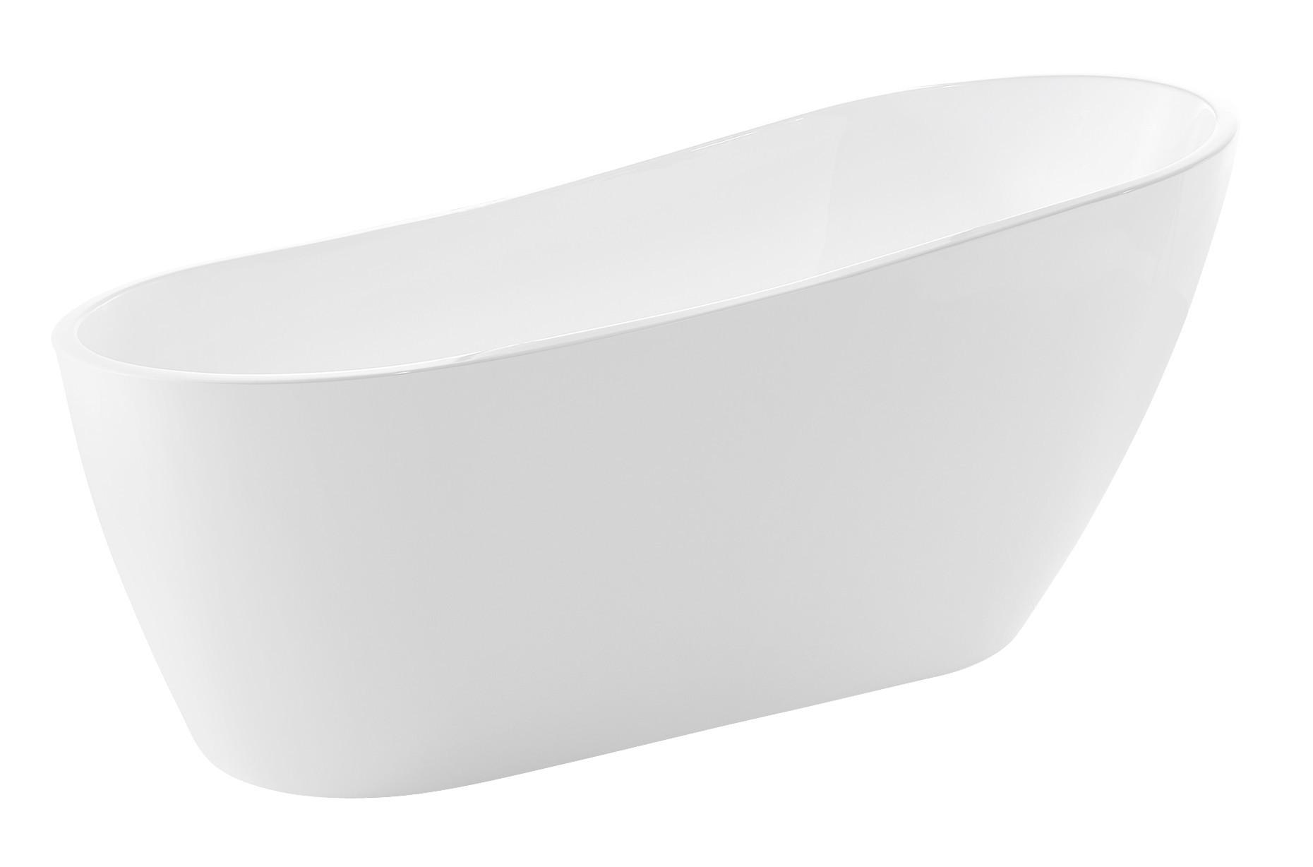 Anzzi FT-AZ093 Trend Series 5.58 ft. Freestanding Bathtub in White