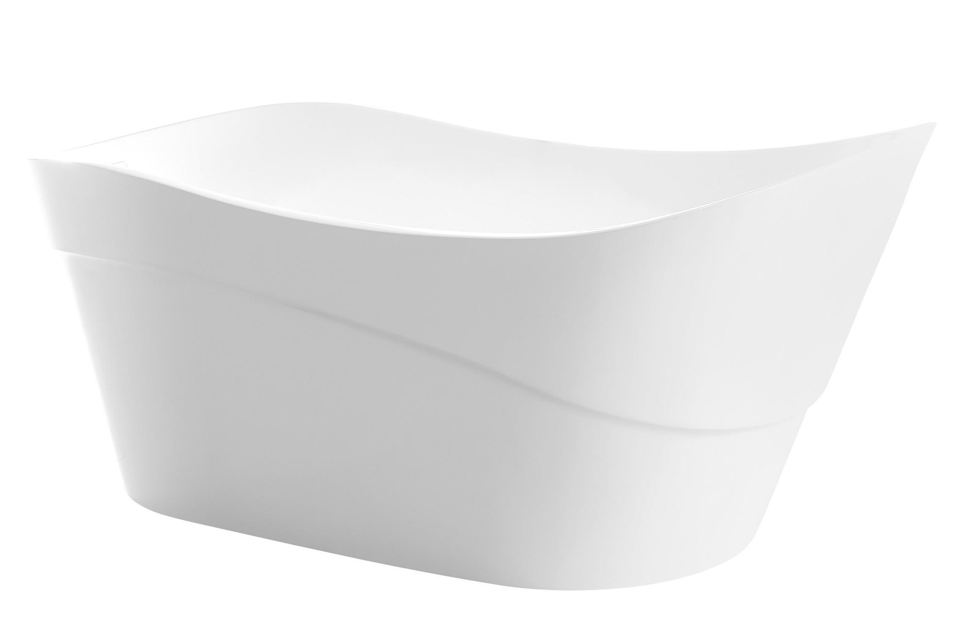 Anzzi FT-AZ094 Kahl Series 5.58 ft. Freestanding Bathtub in White