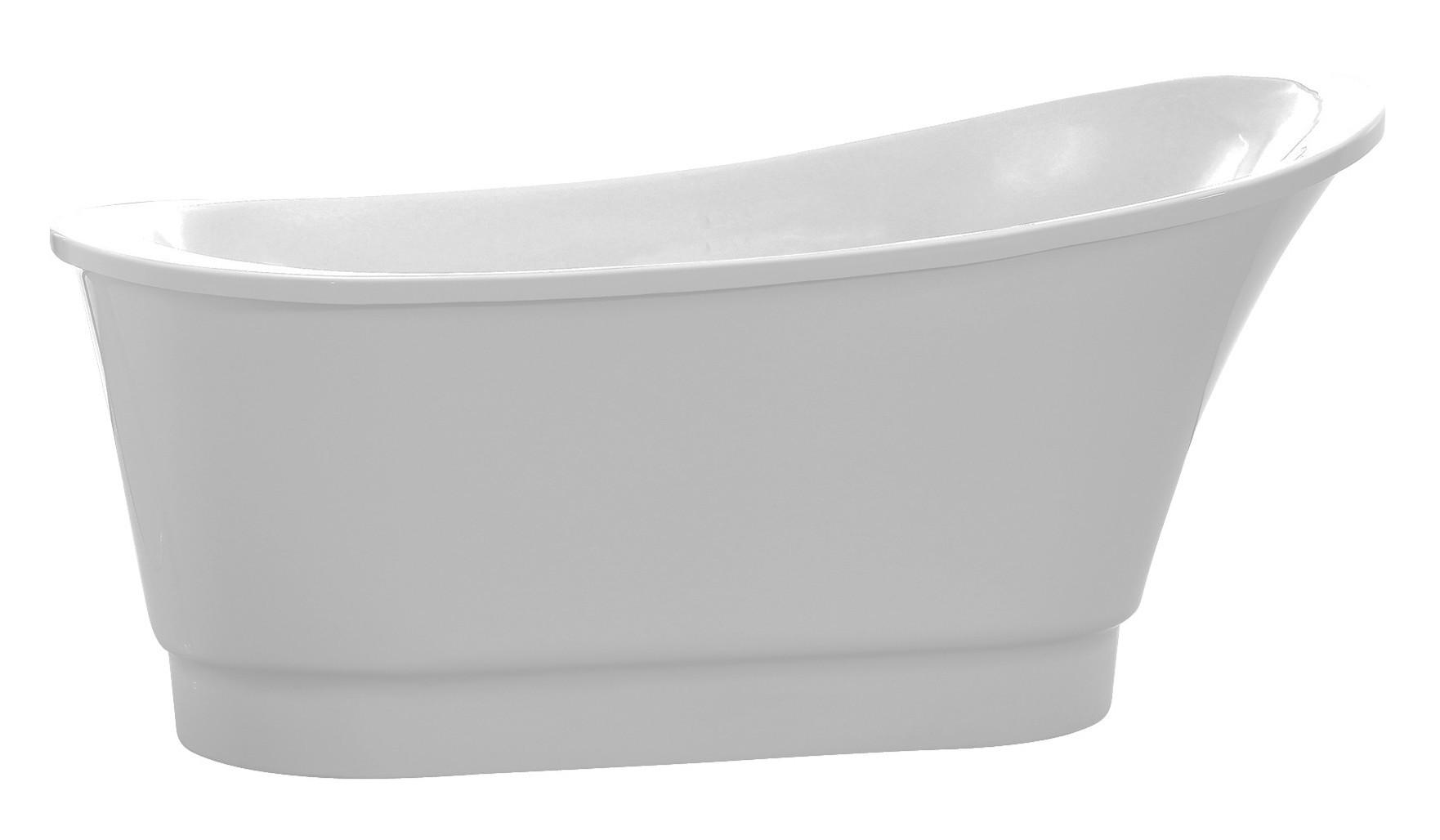 Anzzi FT-AZ095 Prima Series 5.58 ft. Freestanding Bathtub in White
