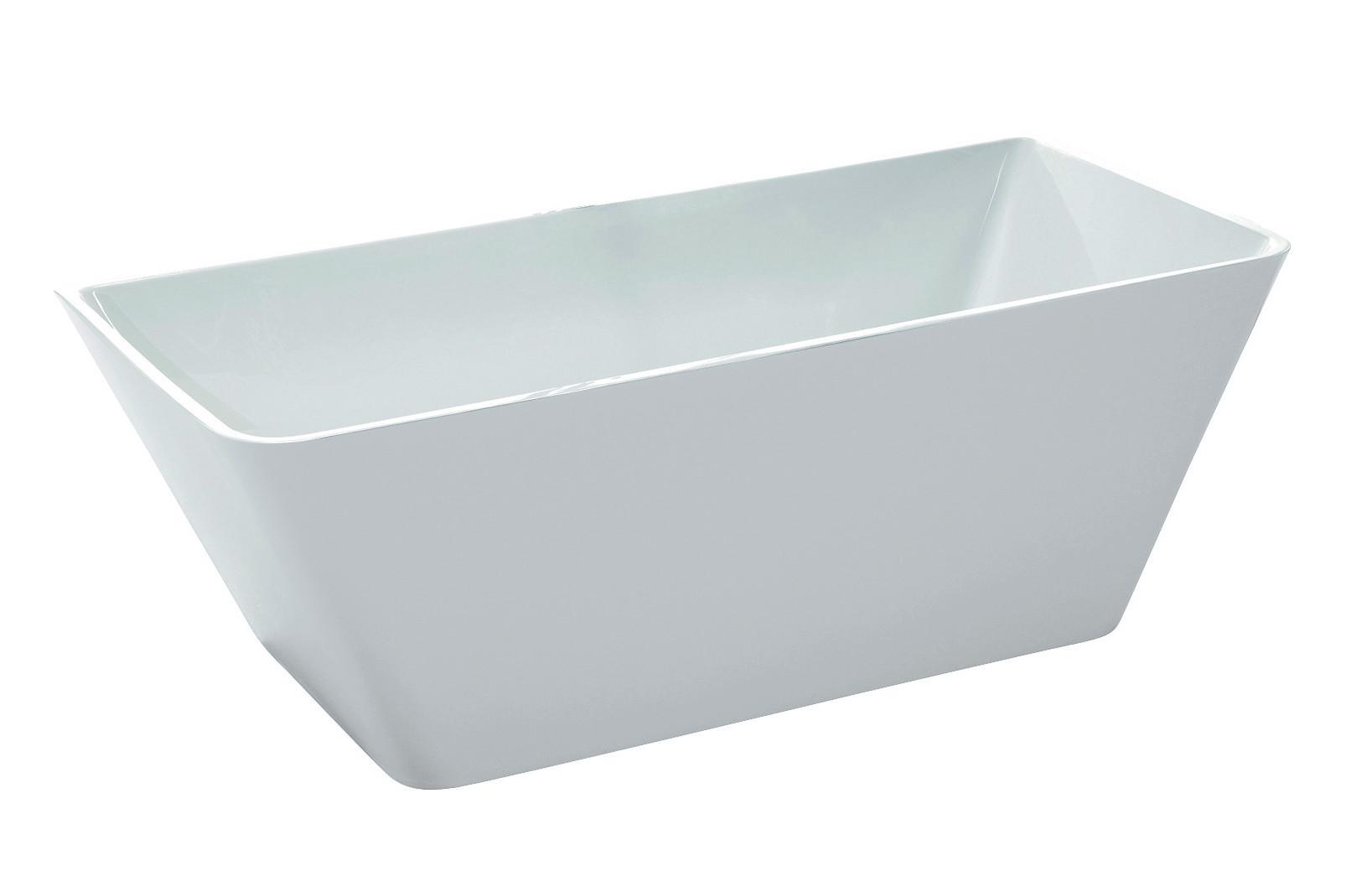 Anzzi FT-AZ099 Zenith Series 5.58 ft. Freestanding Bathtub in White