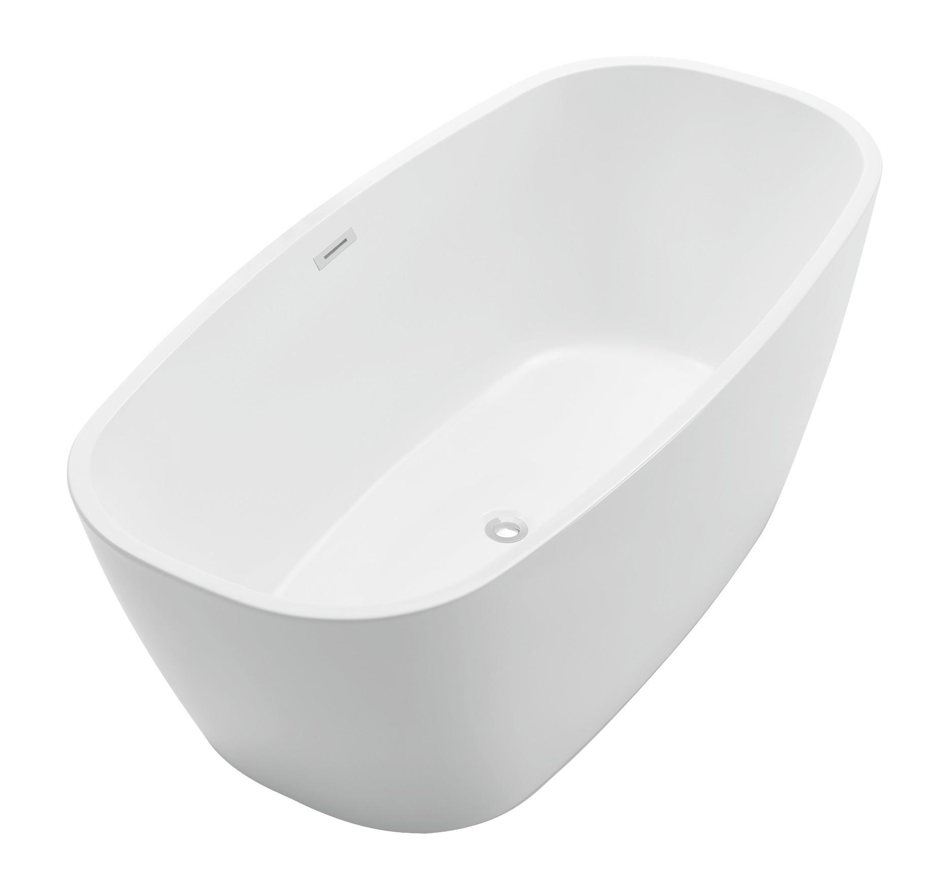 Anzzi FT-AZ108 Bridge Series 5.58 ft. Freestanding Bathtub in White