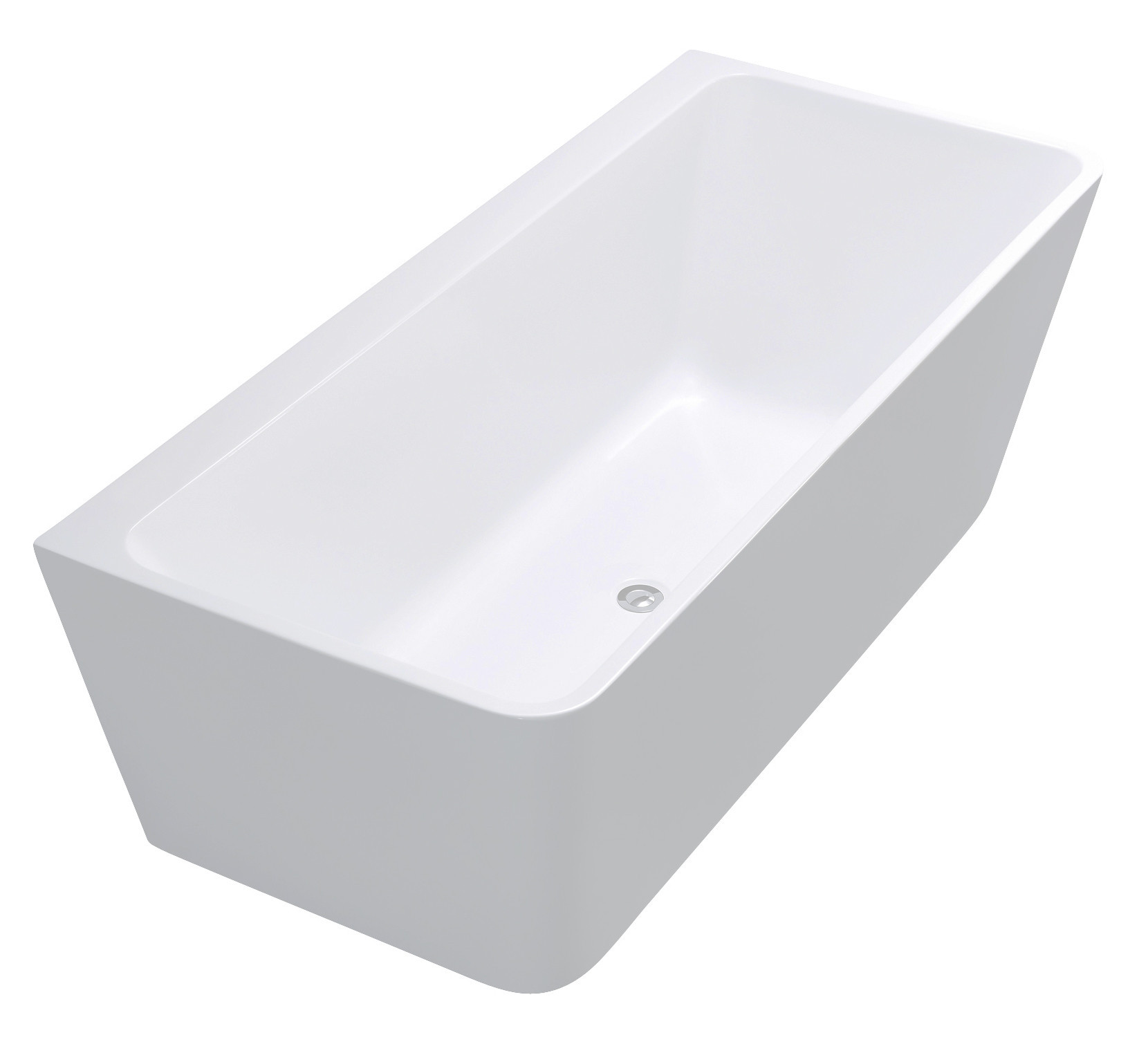 Anzzi FT-AZ109 Strait Series 5.58 ft. Freestanding Bathtub in White