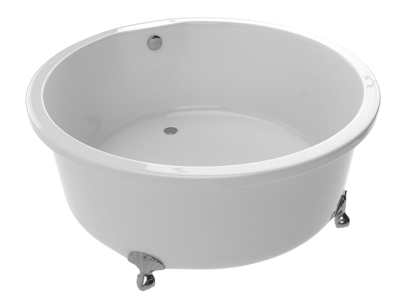 Anzzi FT-AZ302 Cantor Series 4.9 ft. Clawfoot Non-Whirlpool Bathtub - White