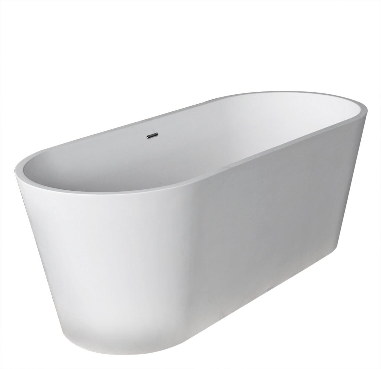 Anzzi FT-AZ503 Rossetto Man-Made Stone Freestanding Bathtub in Matte White