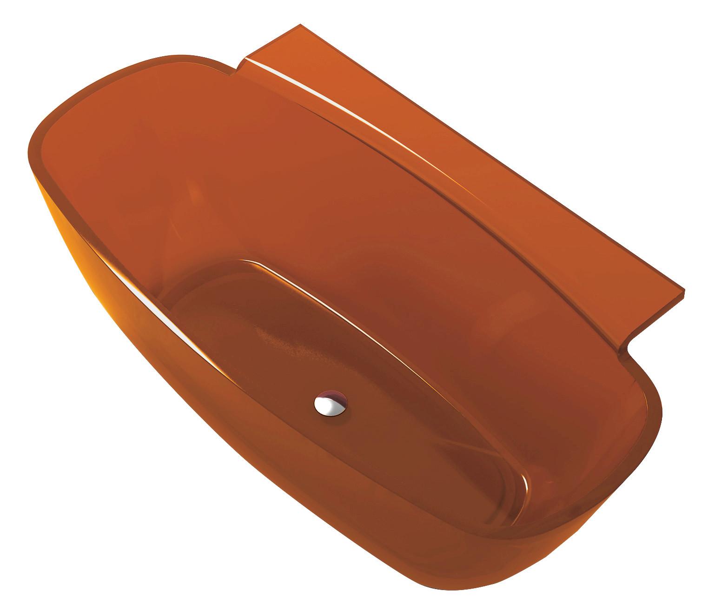 Anzzi FT-AZ523 Vida 5.2 ft. Man-Made Stone Freestanding Bathtub Honey Amber