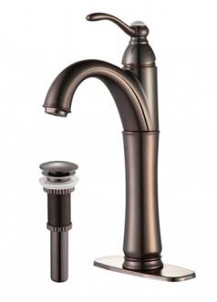 Kraus FVS-1005-PU-10ORB Riviera Oil Rubbed Bronze Faucet with Pop Up Drain