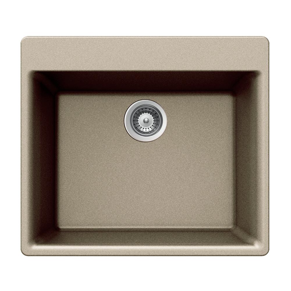 Houzer G-100 Quartztone Series Topmount Single Bowl Granite Kitchen Sink