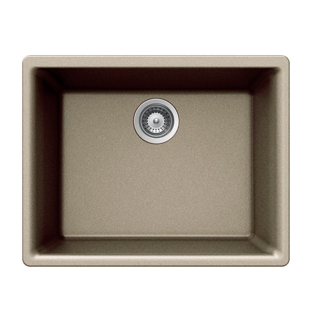 Houzer G-100U Quartztone Series Undermount Single Bowl Granite Kitchen Sink
