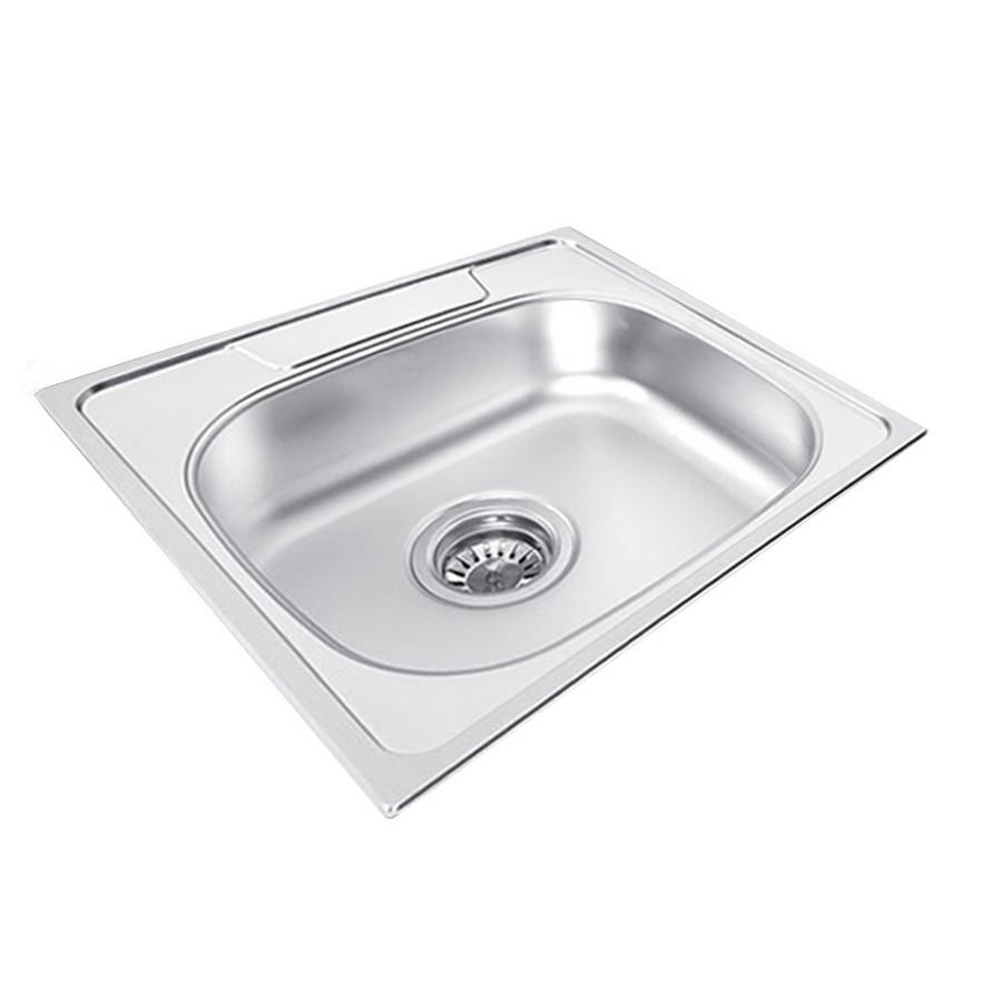 Ukinox GA480.480 1 Bowl Stainless Steel Kitchen Sink, Drop-in Installation