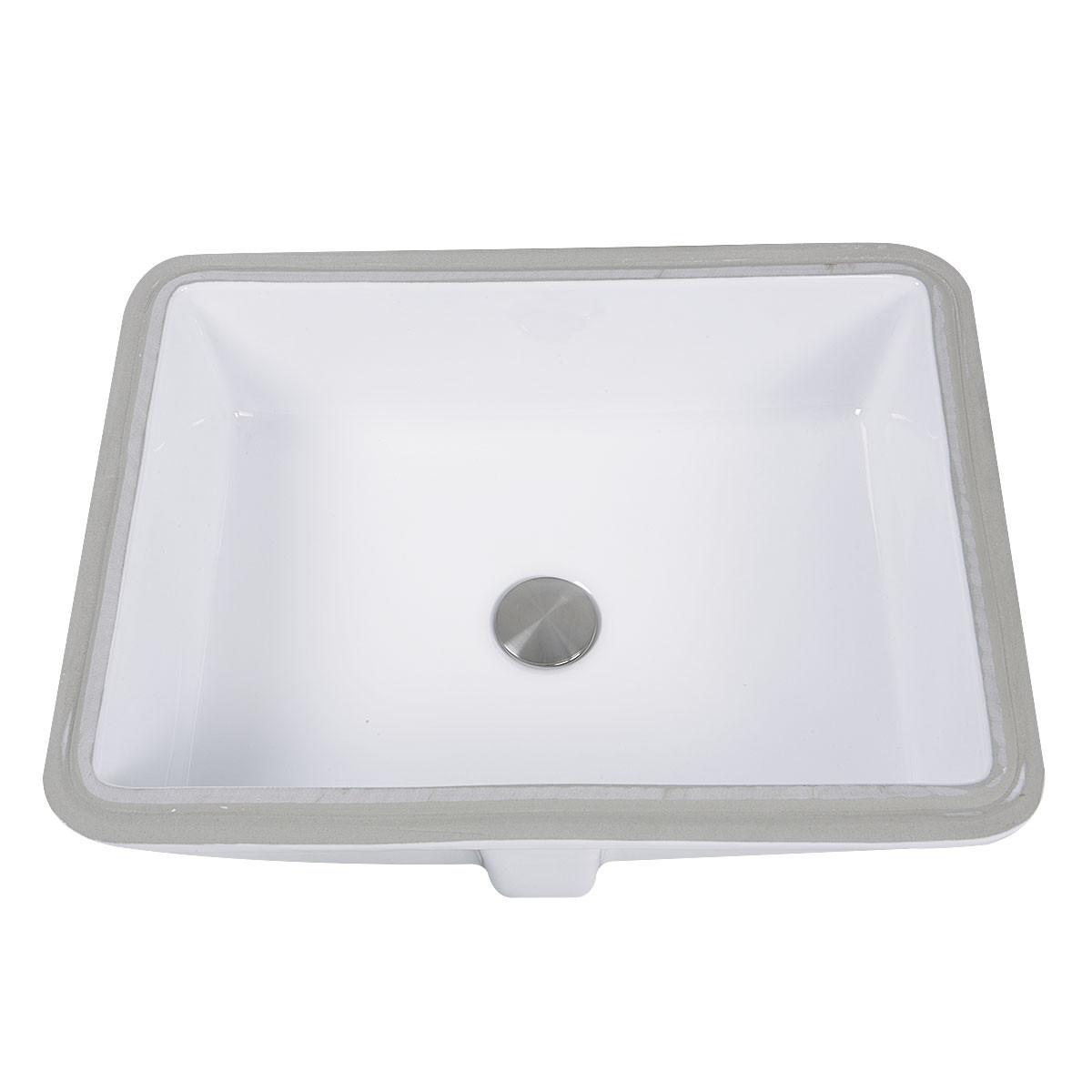 Nantucket Sinks GB-17x13-W Undermount Rectangle Ceramic Sink In White