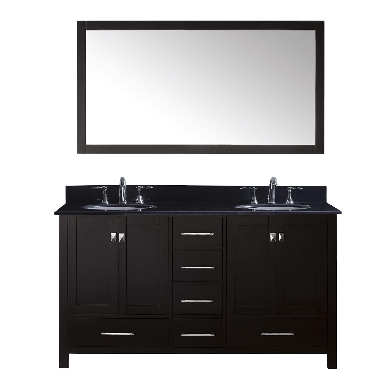 Virtu GD-50060-BGRO-ES-002 Caroline Avenue 60 Inch Double Bathroom Vanity Set In Espresso
