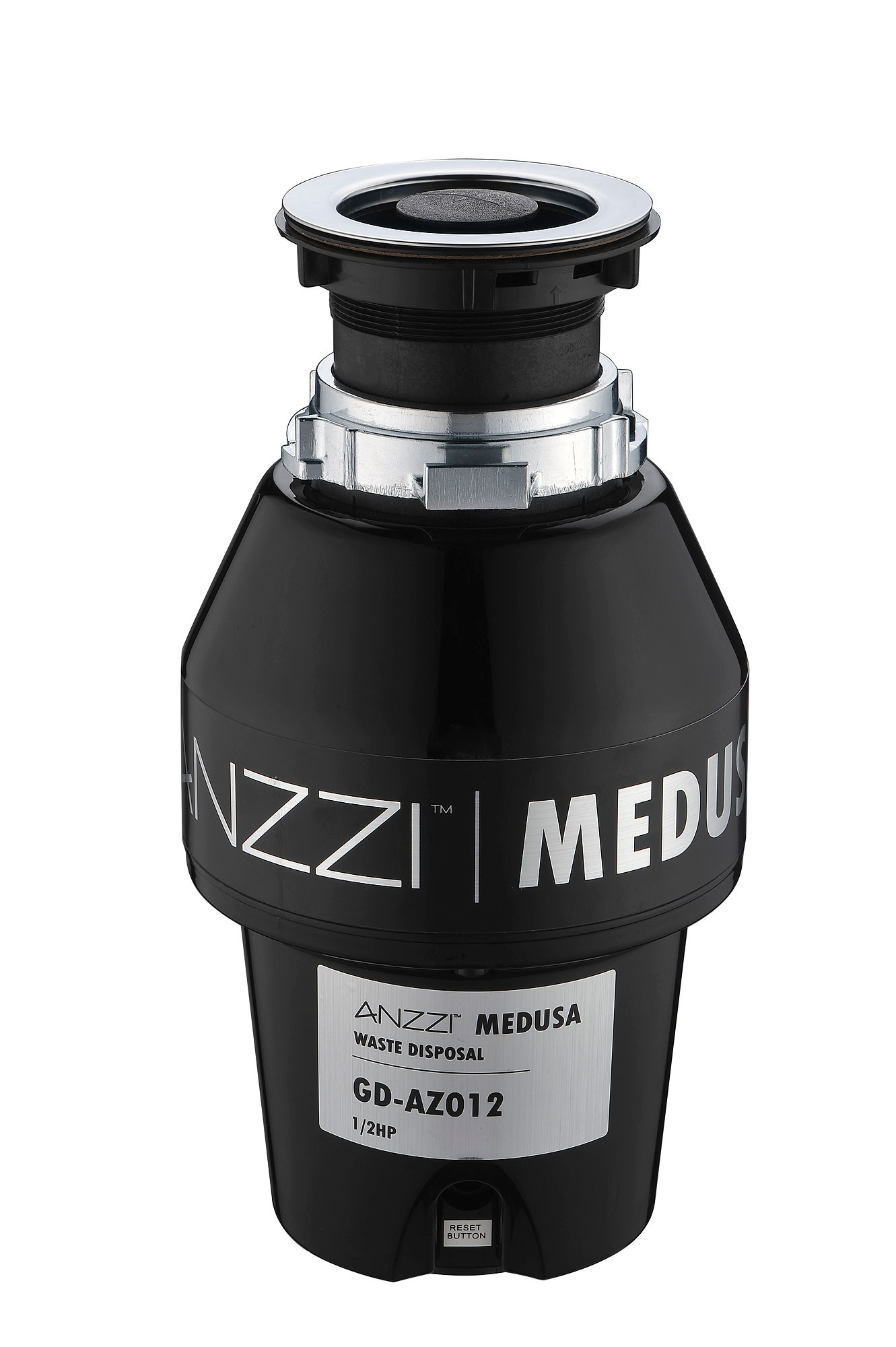 ANZZI GD-AZ012 Black MEDUSA Series 1/2 HP Continuous Feed Garbage Disposal