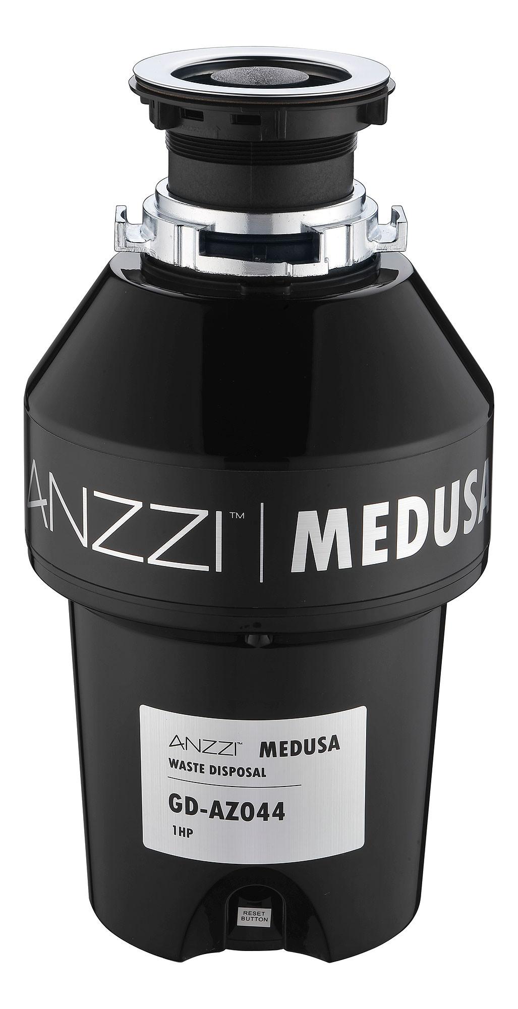 ANZZI GD-AZ044 MEDUSA 1 HP Continuous Kitchen Garbage Disposal In Black