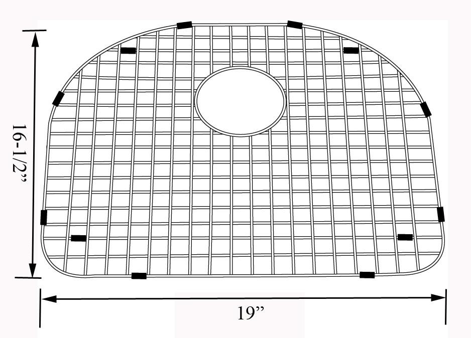 Lenova GDS16 Stainless Steel Kitchen Sink Grid