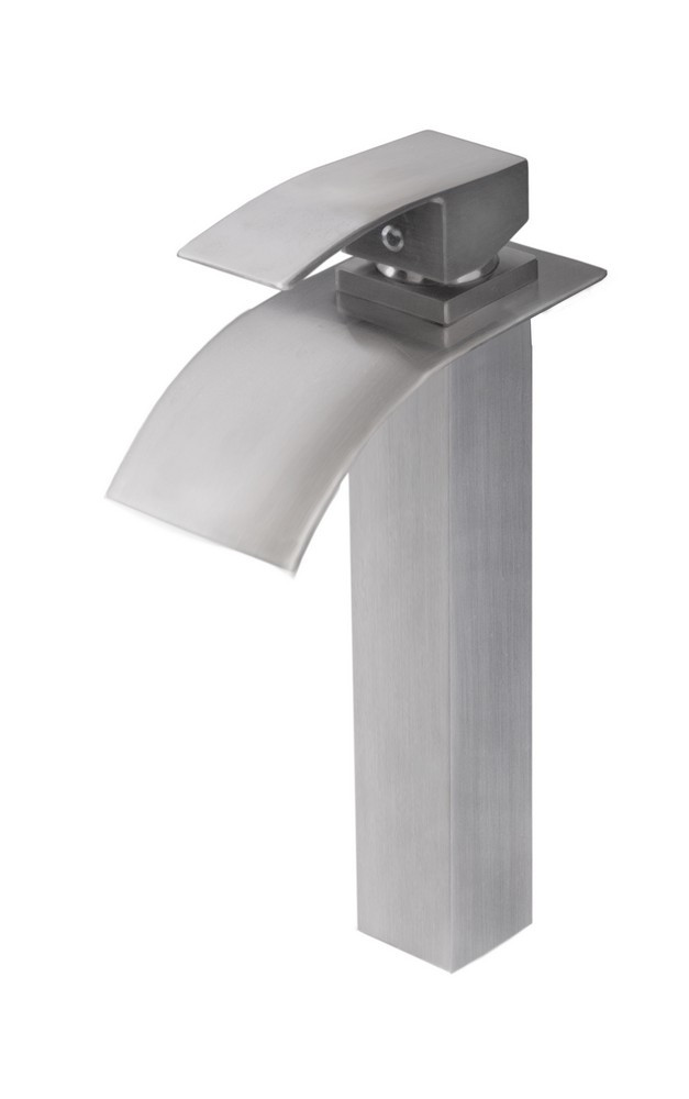 Novatto GF-136BN ECLIPSE Deck Mount Waterfall Faucet In Brushed Nickel