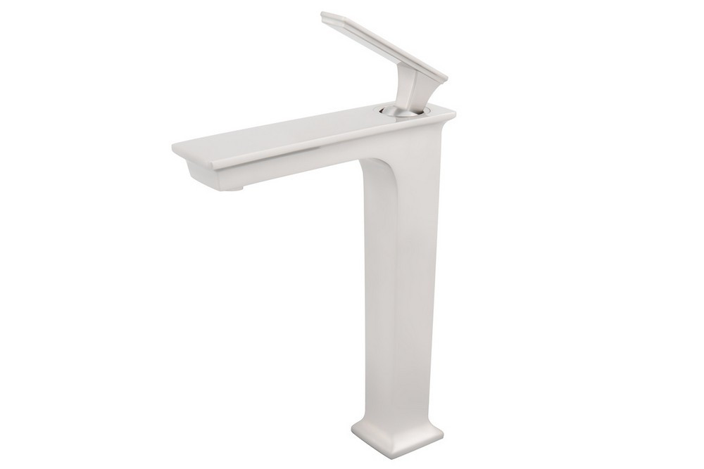 Novatto GF-368BN STARKS Brass Waterfall Bathroom Faucet In Brushed Nickel