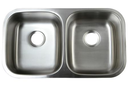 Gourmetier GKUD3118 Undermount Double Bowl Kitchen Sink in Satin Nickel