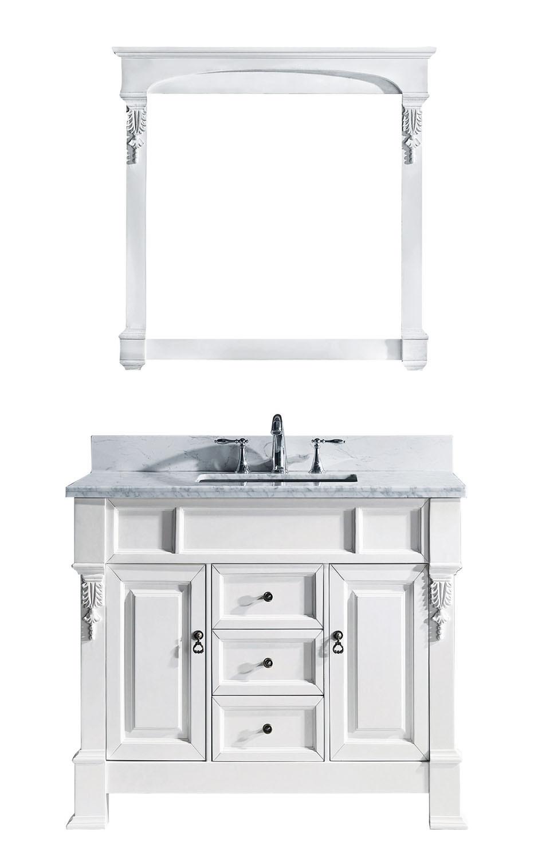 Virtu GS-4040-WMSQ-WH-001 Huntshire 40 Inch Single Bathroom Vanity Set In White