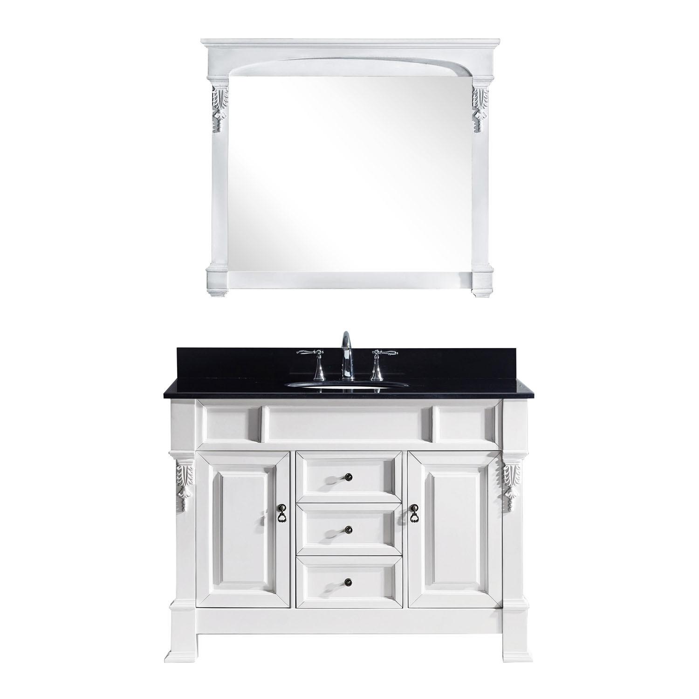 Virtu GS-4048-BGRO-WH Huntshire 48 Inch Single Bathroom Vanity Set In White