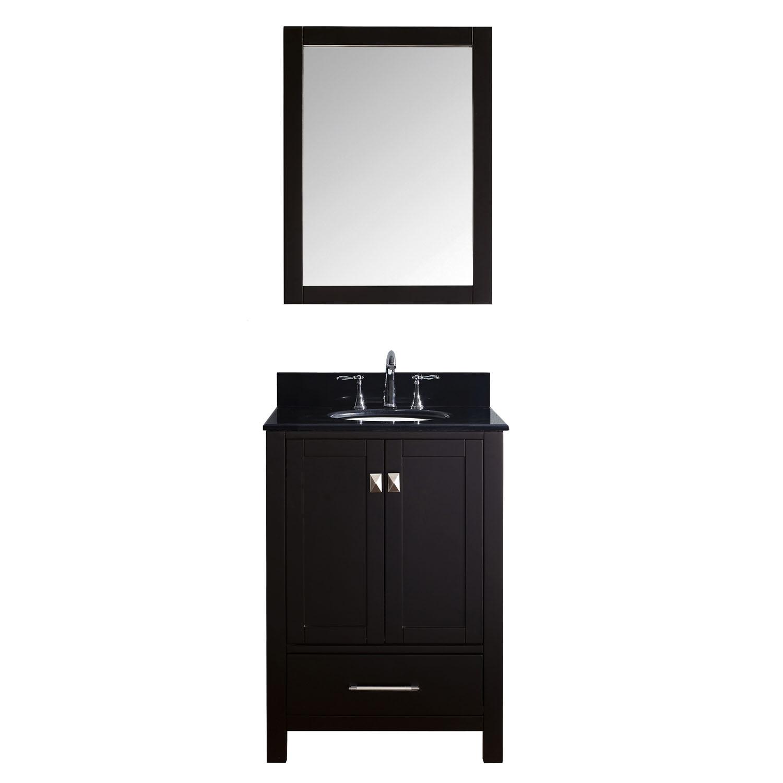 Virtu GS-50024-BGRO-ES-001 Caroline Avenue 24 Inch Single Bathroom Vanity Set In Espresso