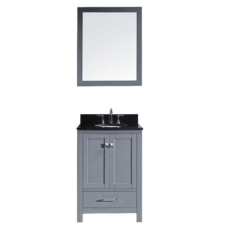Virtu GS-50024-BGRO-002 Caroline Avenue 24 Inch Single Bathroom Vanity Set In Grey