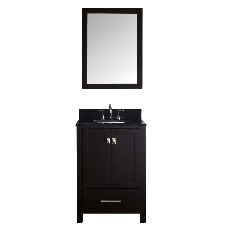 Virtu GS-50024-BGSQ-ES Caroline Avenue 24 Inch Single Bathroom Vanity Set In Espresso