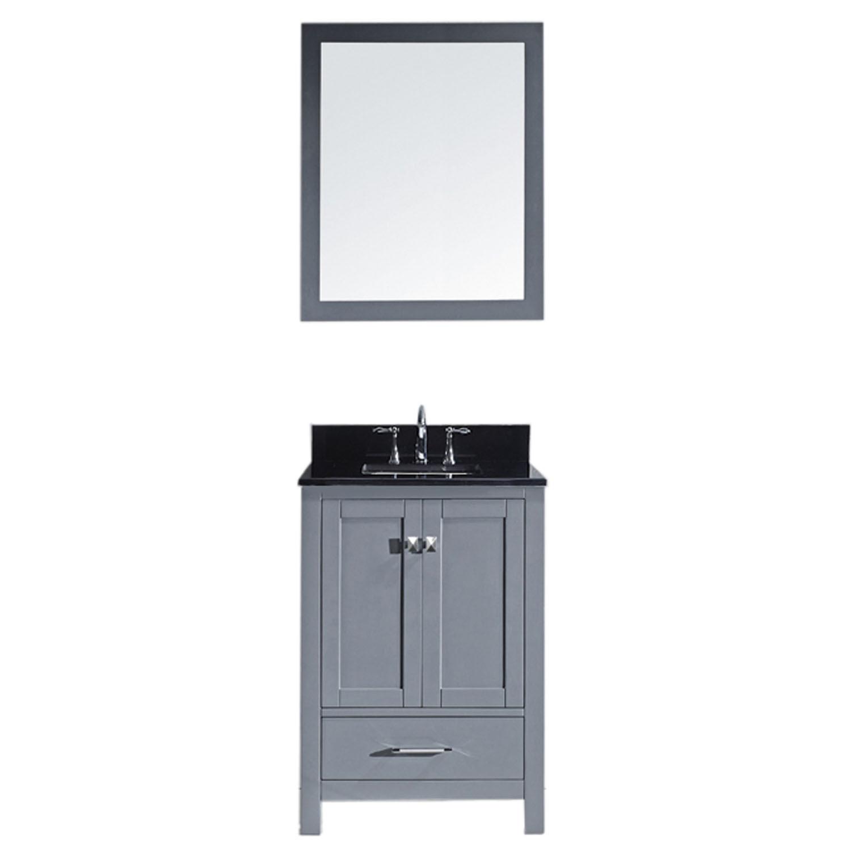 Virtu GS-50024-BGSQ-GR-001 Caroline Avenue 24 Inch Single Bathroom Vanity Set In Grey