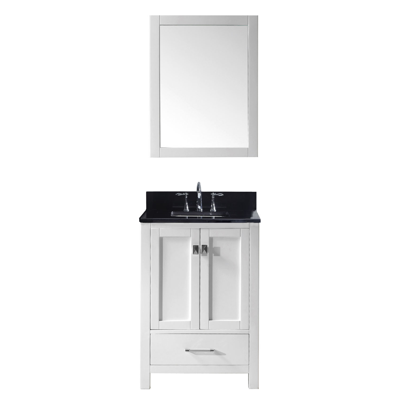 Virtu GS-50024-BGSQ-WH-002 Caroline Avenue 24 Inch Single Bathroom Vanity Set In White