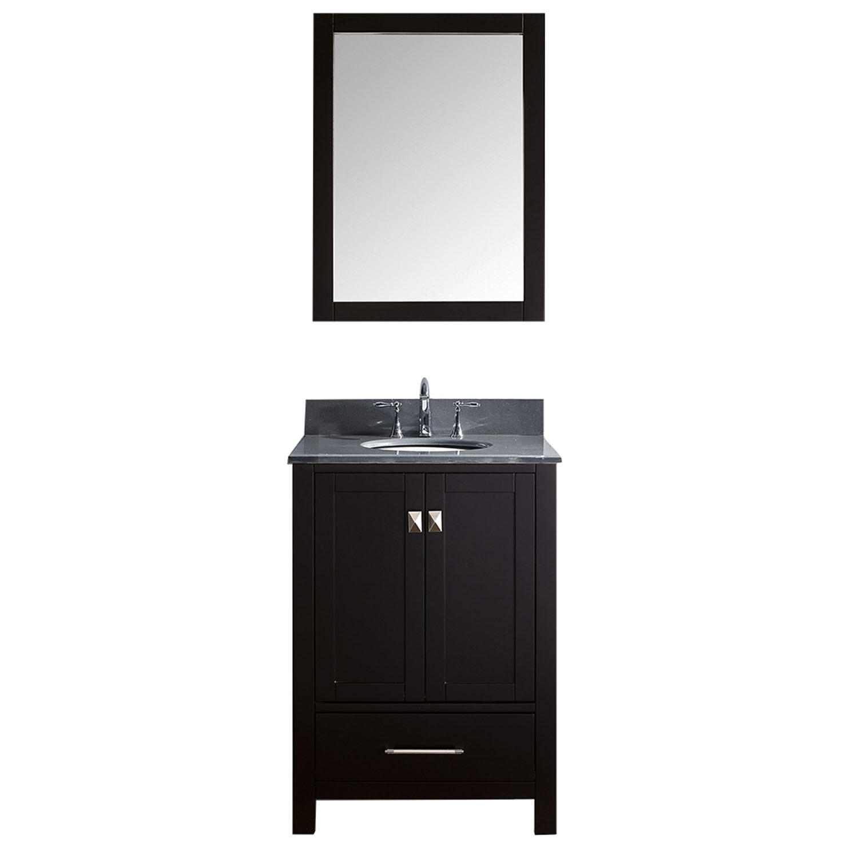Virtu GS-50024-GQRO-ES-001 Caroline Avenue 24 Inch Single Bathroom Vanity Set In Espresso