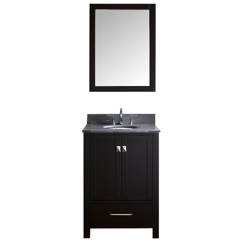 Virtu GS-50024-GQRO-002 Caroline Avenue 24 Inch Single Bathroom Vanity Set