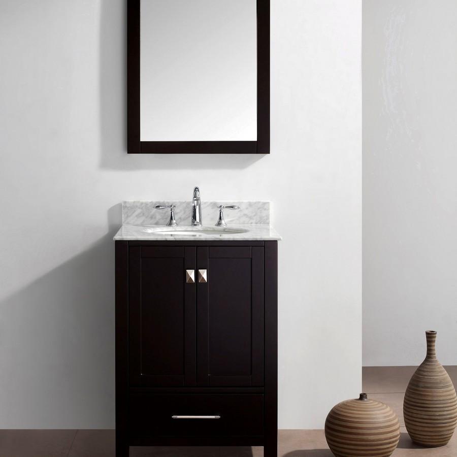 """Virtu GS-50024-WMRO-ES-001 24"""" Single Sink Bathroom Vanity in Espresso"""