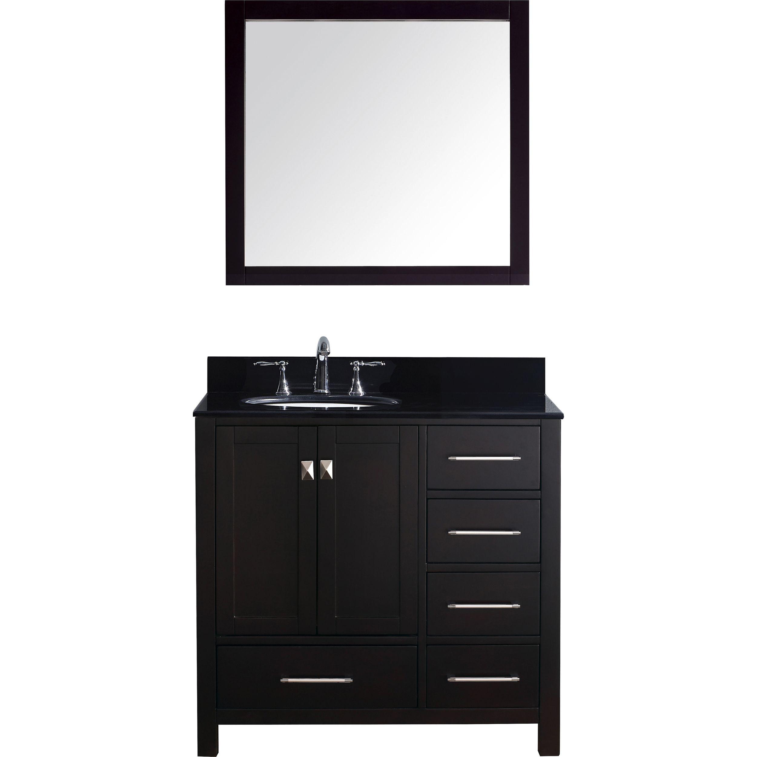 Virtu GS-50036-BGRO-ES-001 Caroline Avenue 36 Inch Single Bathroom Vanity Set In Espresso