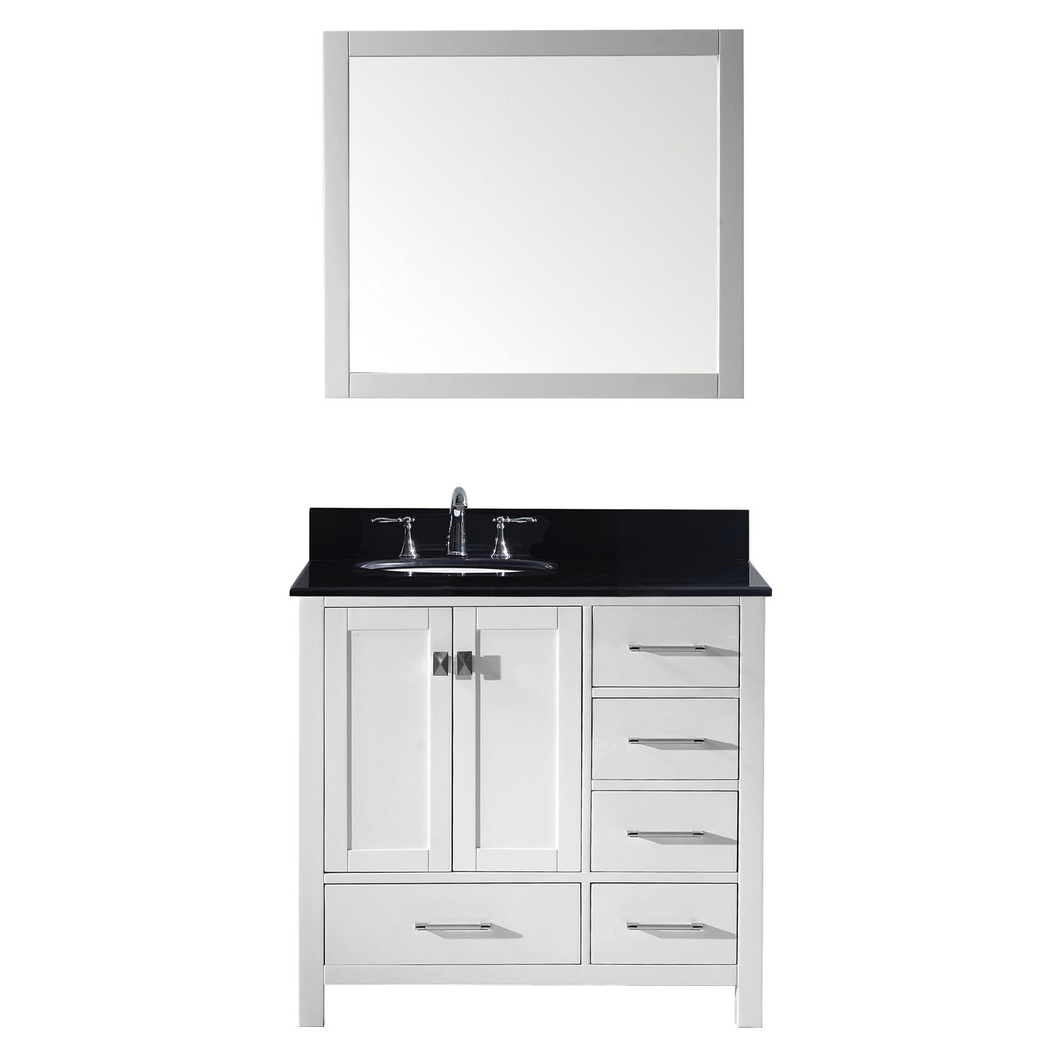Virtu GS-50036-BGRO-WH-002 Caroline Avenue 36 Inch Single Bathroom Vanity Set In White