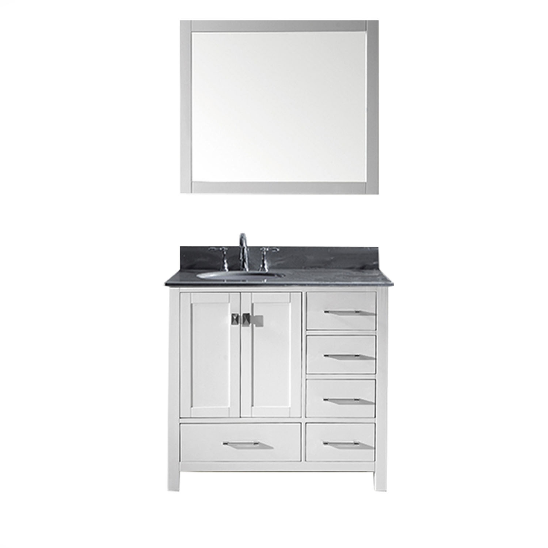Virtu GS-50036-GQRO-WH Caroline Avenue 36 Inch Single Bathroom Vanity Set In White