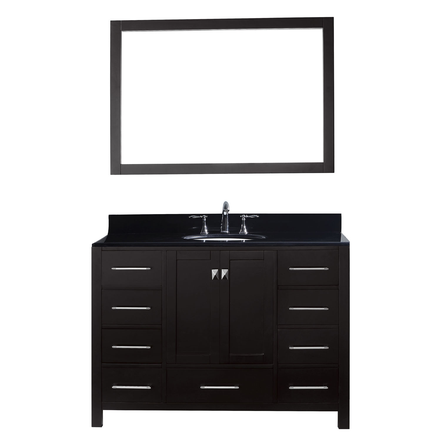Virtu GS-50048-BGRO-ES-001 Caroline Avenue 48 Inch Single Bathroom Vanity Set In Espresso