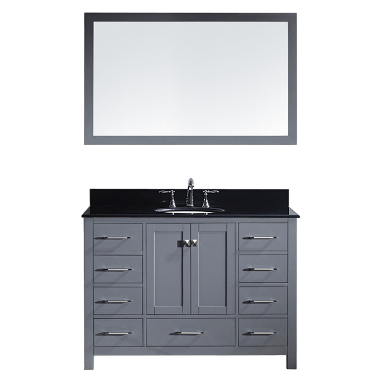Virtu GS-50048-BGRO-GR-002 Caroline Avenue 48 Inch Single Bathroom Vanity Set In Grey