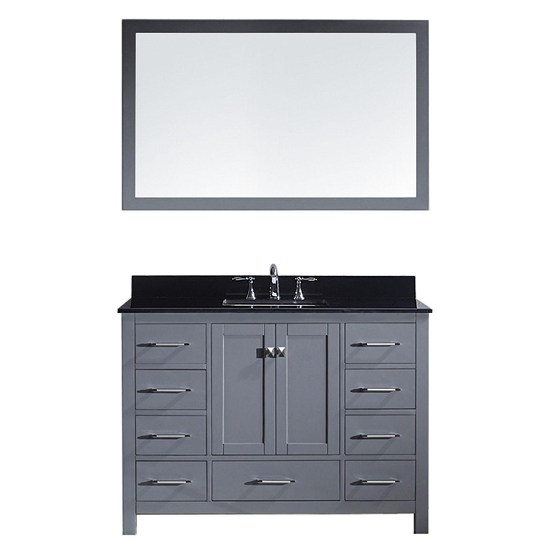 Virtu GS-50048-BGSQ-GR-002 Caroline Avenue 48 Inch Single Bathroom Vanity Set In Grey