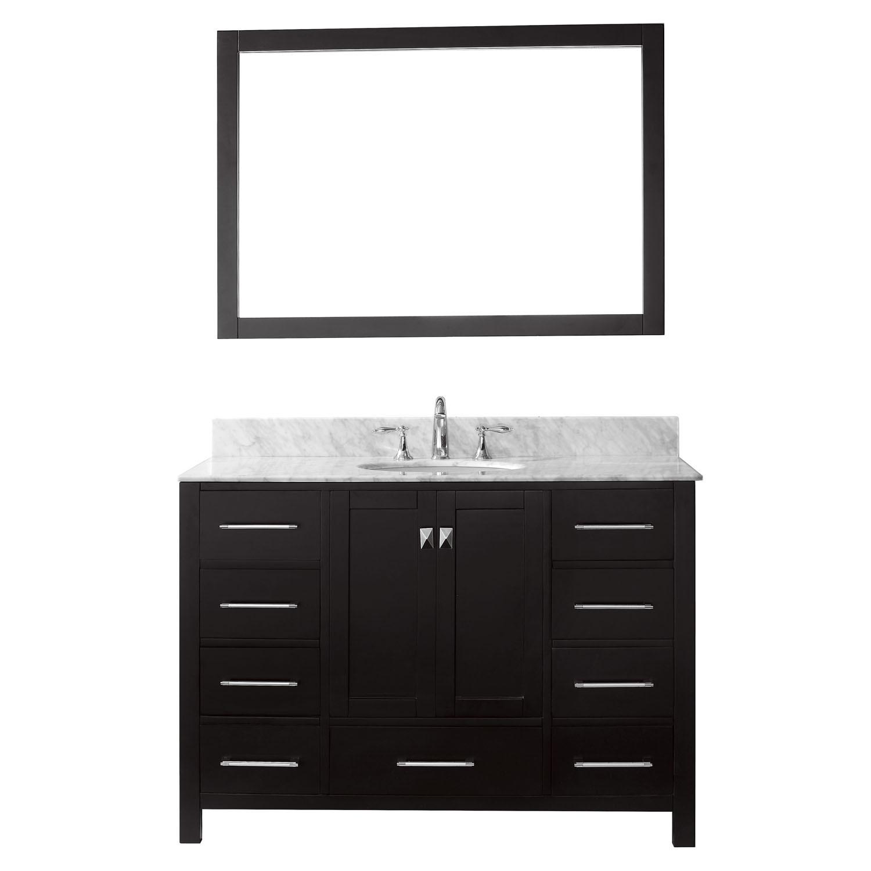 Virtu GS-50048-GQRO-ES-001 Caroline Avenue 48 Inch Single Bathroom Vanity Set In Espresso (Image shown with Marble Top)