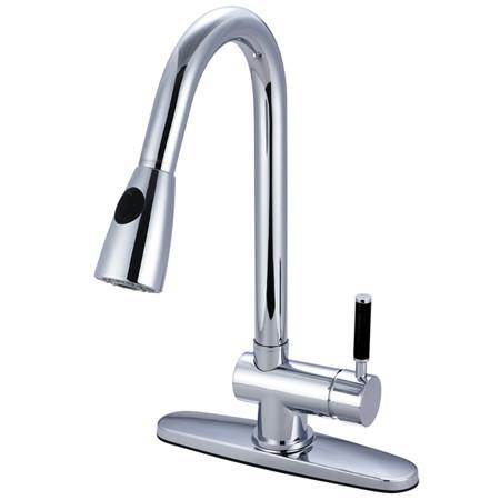 Gourmetier GS8891DKL Kaiser Pull-Down Spray Kitchen Faucet in Chrome