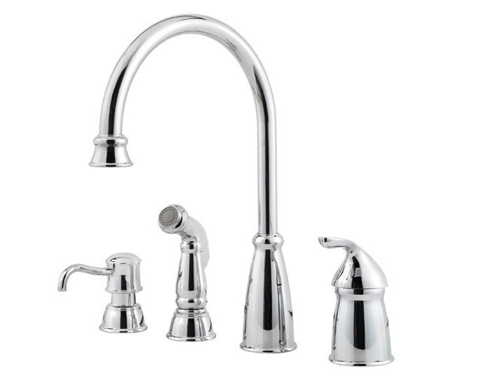 Price Pfister GT26-4CB Kitchen Faucet with Sidespray SoapDispenser