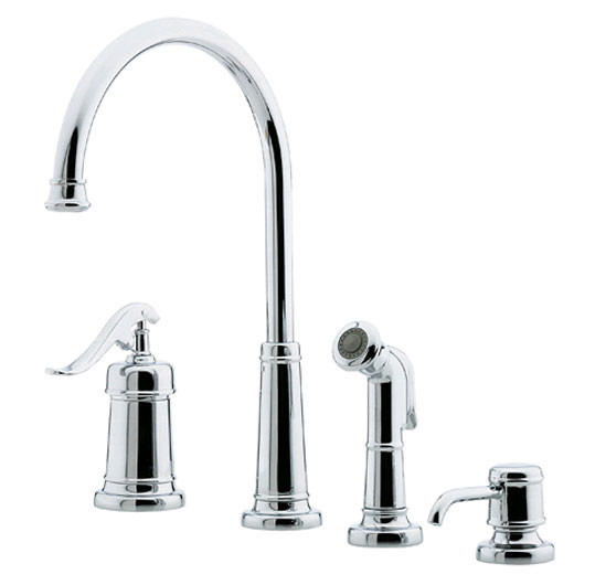Price Pfister GT26-4YP Kitchen Faucet SoapDispenser Sidespray