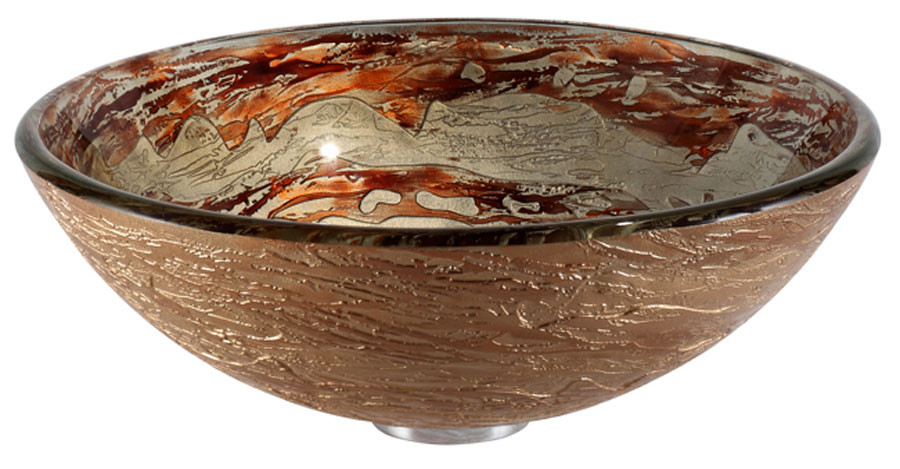 Kraus GV-651 17 in. Round Handcrafted Glass Vessel