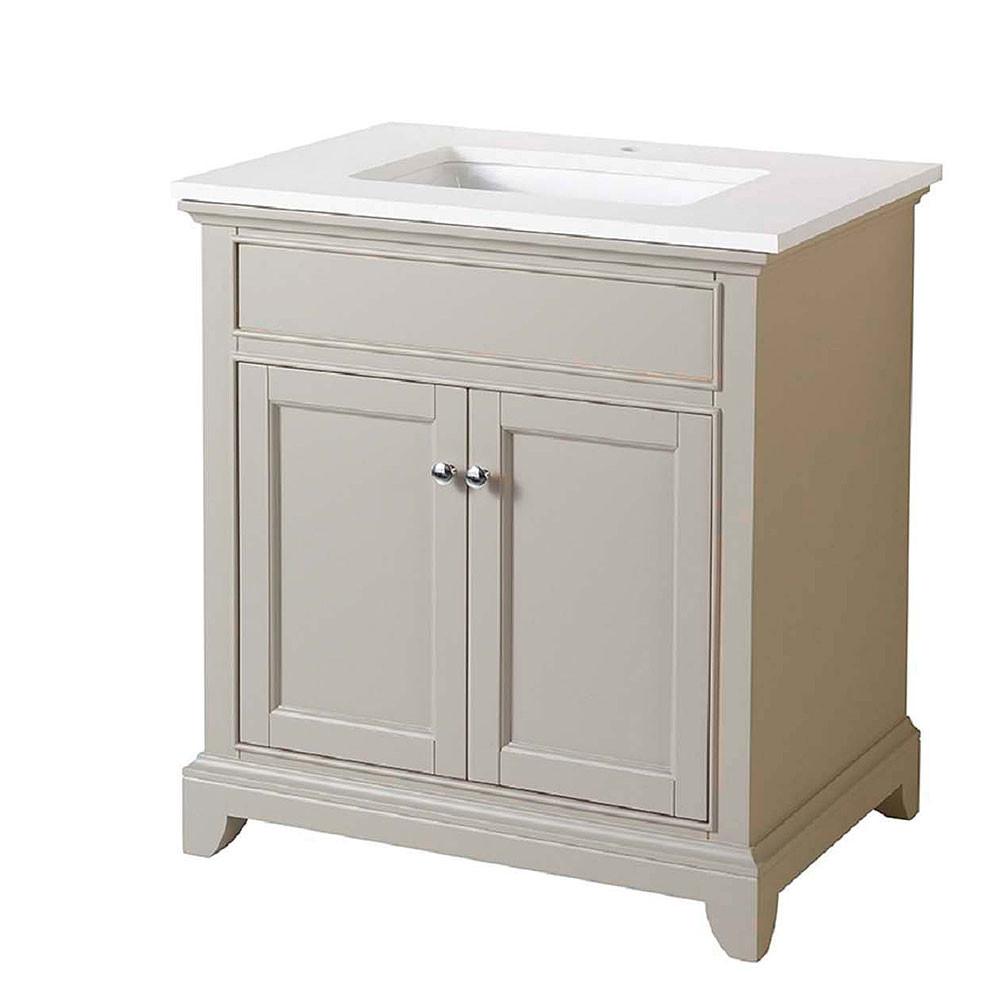 Stufurhome HD-6004-31-QZ Erin 31 Inch Single Sink Bathroom Vanity