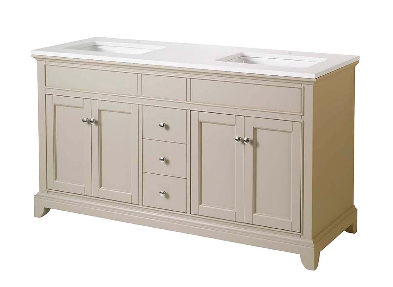 Stufurhome HD-6004-59-QZ Erin 59 Inch Double Sink Bathroom Vanity
