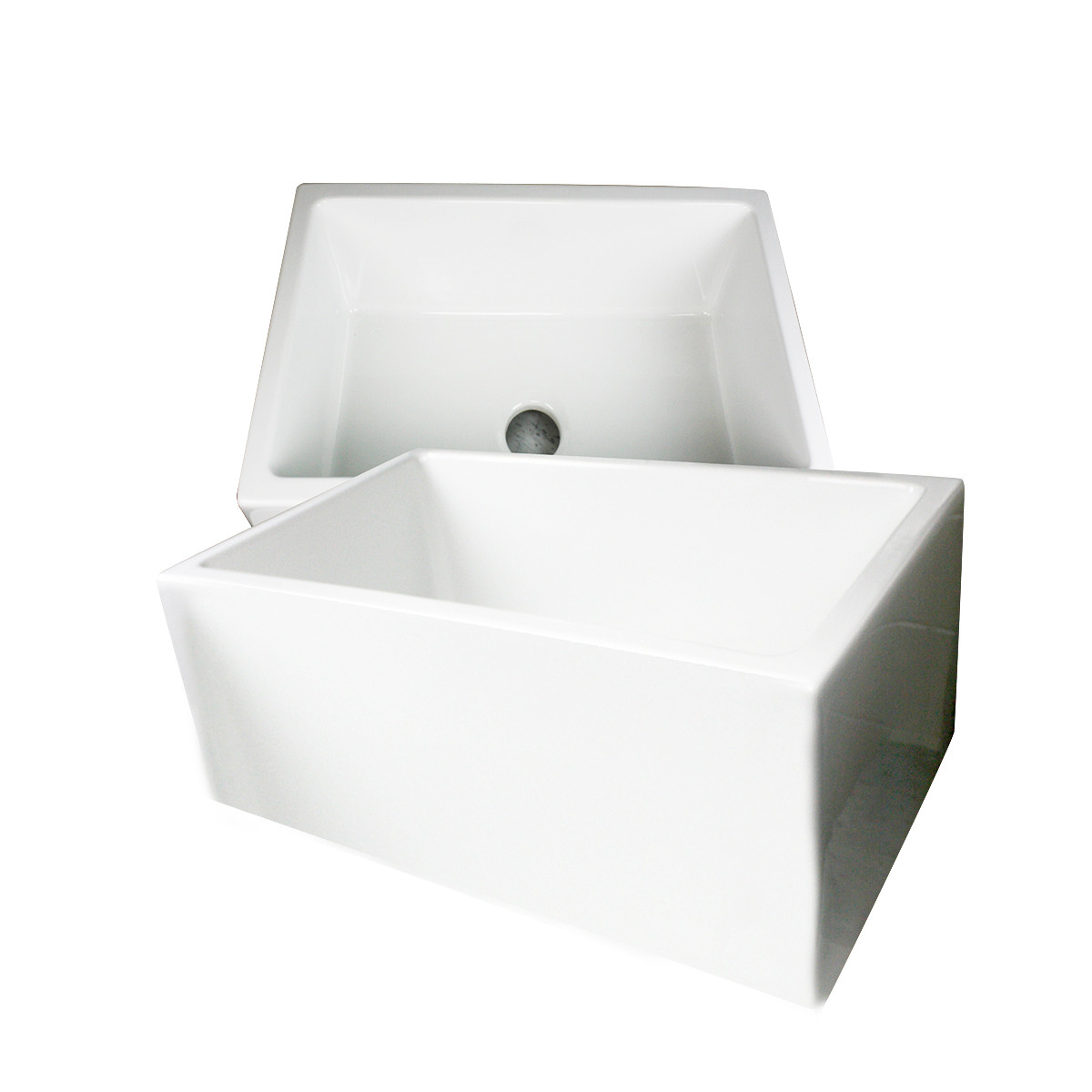Nantucket Sink Hyannis-24 White Rectangular Fireclay Farmhouse Apron Sink