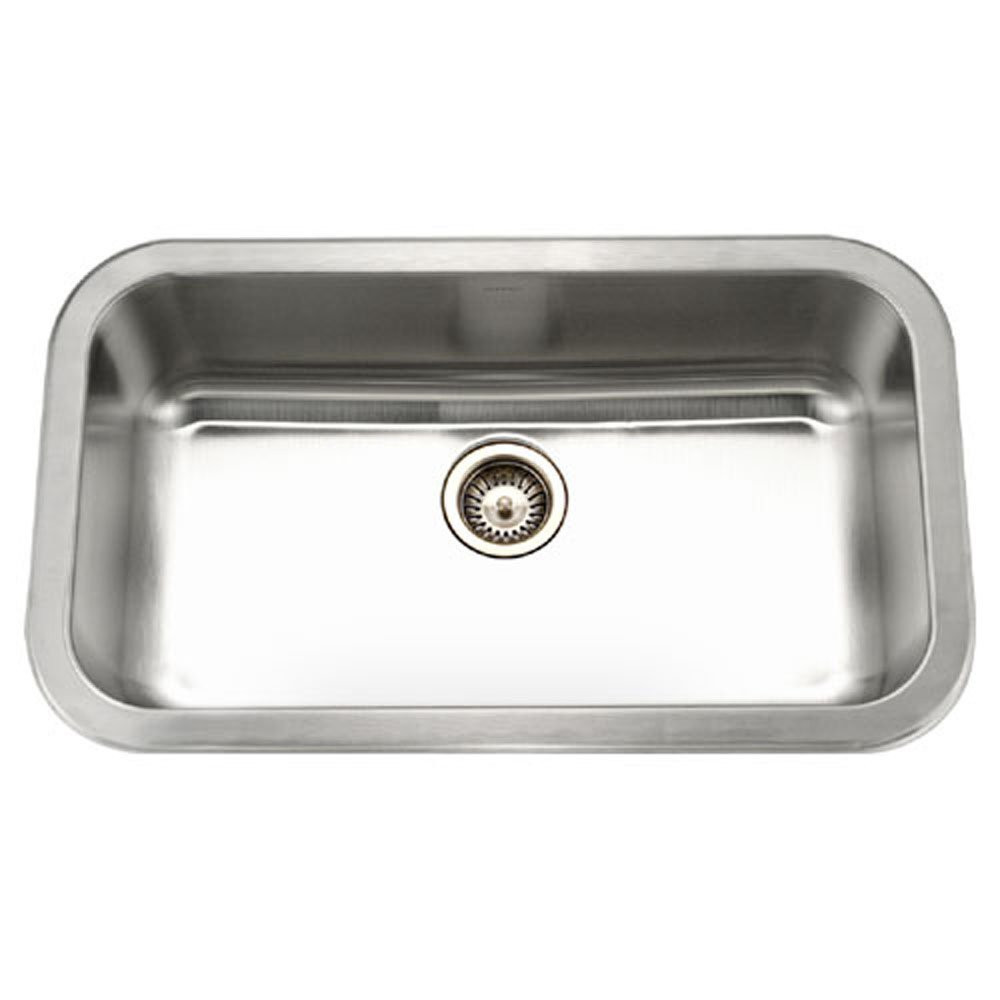 Houzer MGS-3018-1 Medallion Gourmet Undermount Stainless Steel Large Single Bowl Kitchen Sink