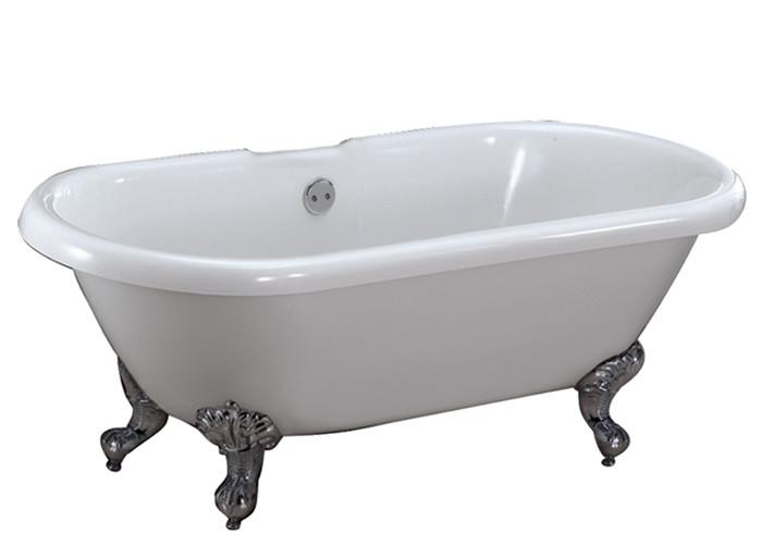 Acrylic Double Bathtub With 7 Inch Rim Holes Imperial Feet